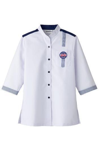 [サンペックス]飲食 デザイン白衣(女性
