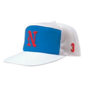 ニットバックメッシュ角ワイド型野球帽(ア