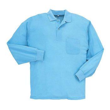 E/C鹿の子長袖ポロシャツ