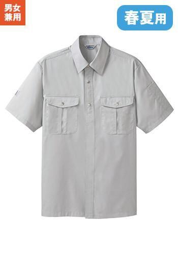 [ペチクール]作業服 半袖シャツ 制電