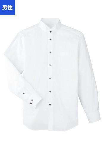 [SWING]飲食 長袖ブロードシャツ(