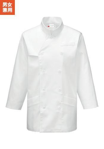 [カゼン]飲食 コックコート八分袖 re