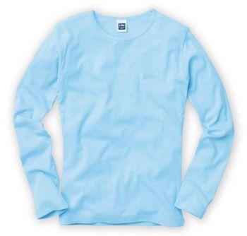 リブクルーネック長袖Tシャツ(カラー)