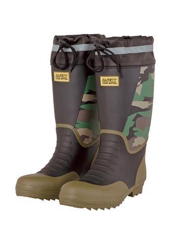 [コーコス]安全靴 迷彩ブーツ スチール
