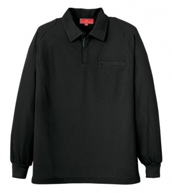 ジップ長袖ポロシャツ