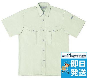 作業服 半袖シャツ 制電 TC 形態安定