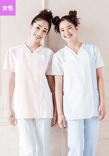 左:ピンク×ホワイト 右:ホワイト×サッ