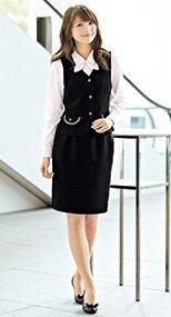 51370 en joie(アンジョア) シンプルで使いやすいストレッチのスカート 無地 93-51370