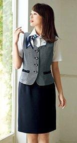 56610 en joie(アンジョア) お腹周りを圧迫しないストレスフリーなスカート 93-56610