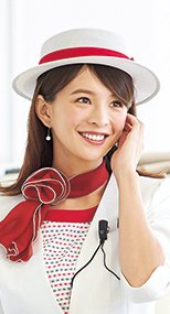 OP603 en joie(アンジョア)アクセントになる赤リボンがかわいい帽子 メッシュタイプ 93-OP603