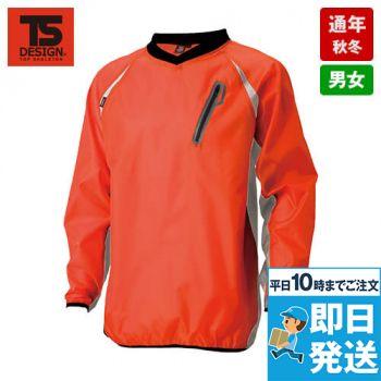 TS DESIGN 84335 [春夏用]リップストップ ウインドブレーカーシャツ(男女兼用)