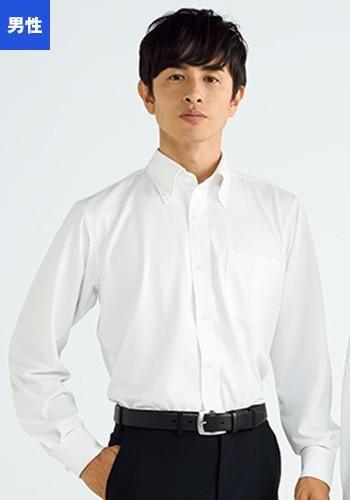 [フェローズ]フォーマル 長袖シャツ(ボ