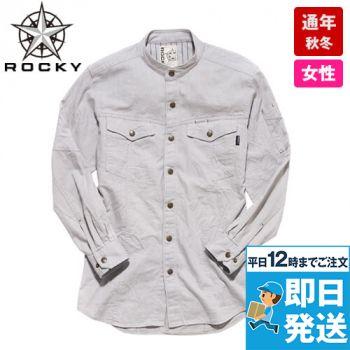 RS4301 ROCKY スタンドカラーシャツ(女性用)