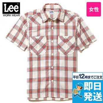 LCS43008 Lee ウエスタンチェックシャツ/半袖(女性用)