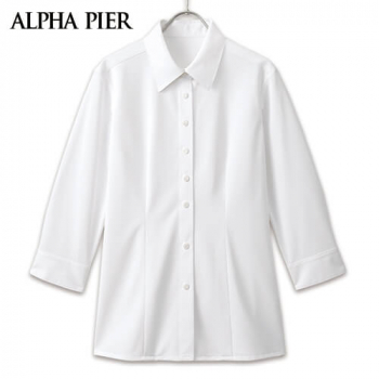 AR1588 アルファピア [通年]七分袖シャツ[ニット/紫外線カット]
