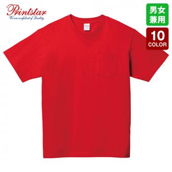 00109-PCT 5.6オンス ヘビーウェイト ポケットTシャツ