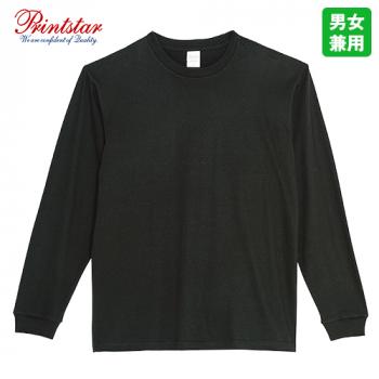 00110-CLL 5.6オンス ヘビーウェイトLS-Tシャツ(リブ)
