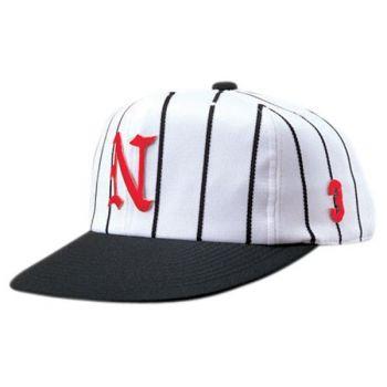 ニットストライプ六方型野球帽(アジャスタ