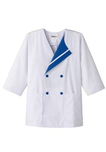 [サンペックス]飲食 デザイン白衣 七分