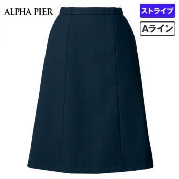 AR3882 アルファピア [通年]Aラインスカート ドットストライプ(ストレッチ)