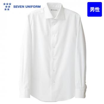CH4430-0 セブンユニフォーム ワイドカラーシャツ/長袖(男性用)