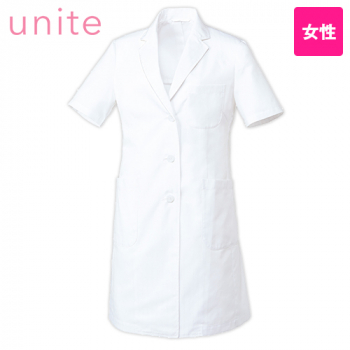 UN-0098 UNITE(ユナイト) 涼しいドクターコート/半袖(女性用)