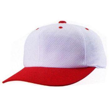 ニットオールメッシュ六方型野球帽(アジャ