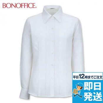 BONMAX RB4140 [通年]リサール 知的な雰囲気を醸し出す胸元のピンタック 長袖ブラウス