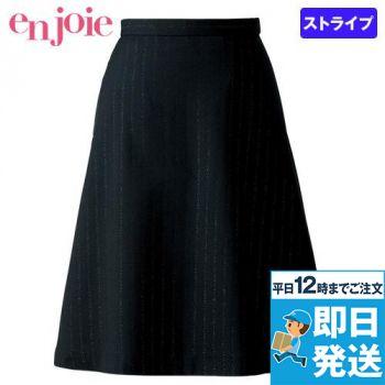en joie(アンジョア) 51703 [通年]シルバーラメが特徴的なストライプ柄のフレアースカート