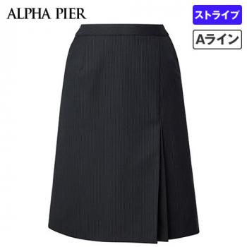 AR3852 アルファピア [通年]Aラインスカート ストライプ[防シワ商品]