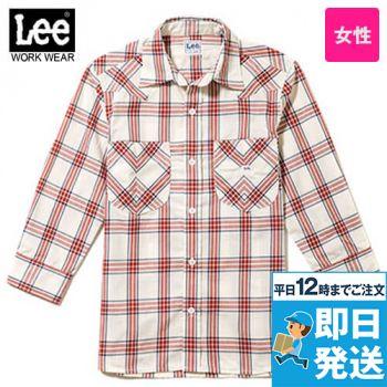 LCS43007 Lee ウエスタンチェックシャツ/七分袖(女性用)