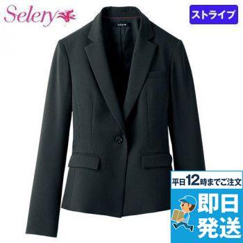 S-24900 SELERY(セロリー) [通年]ジャケット ドットストライプ[ストレッチ]
