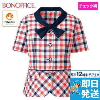 BONMAX BCJ0708 オーバーブラウス[チェック/高通気/抗菌防臭]