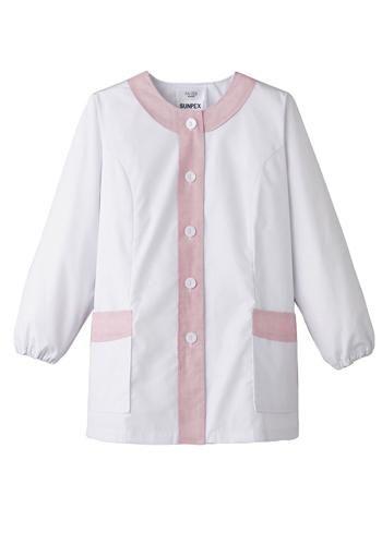 女性用デザイン白衣(長袖)