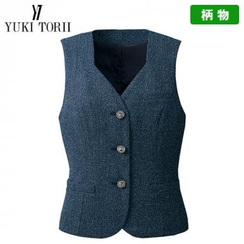 YT2914 ユキトリイ [秋冬用]ベスト ツイード