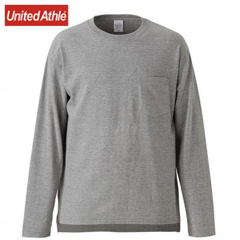 ルーズフィット ロングスリーブTシャツ(ポケット付)(5.6オンス)(男女兼用)