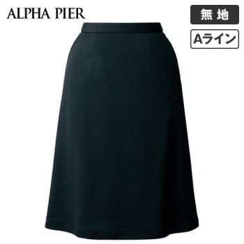 AR3683 アルファピア Aラインスカート ミニチェックシャドー[ニット/高通気/防シワ]