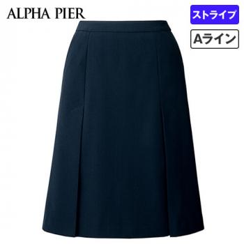 AR3854 アルファピア [通年]Aラインスカート ハイテンション・シャドーストライプ
