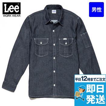 Lee LWS46001 メンズワーク長袖シャツ(男性用)