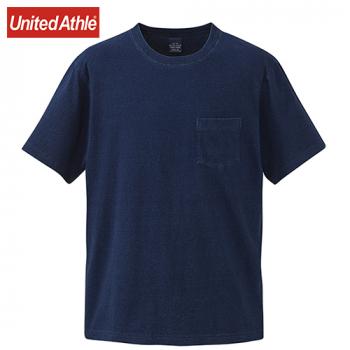 インディゴTシャツ(ポケット付)(5.3オンス)(男女兼用)