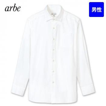 KM-8375 チトセ(アルベ) 長袖ワイドカラーシャツ(男性用)