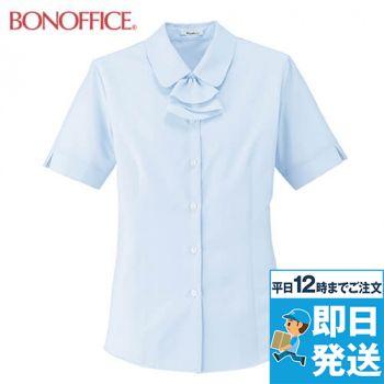 BONMAX RB4549 [通年]フェミニンな大人かわいい半袖ブラウス(リボン付き)