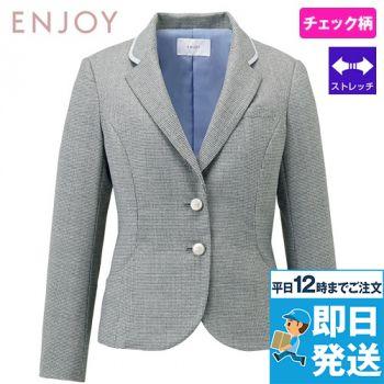 EAJ718 enjoy [通年]ジャケット メランジェ千鳥