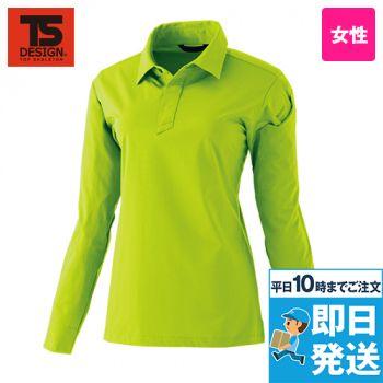 TS DESIGN 91051 [春夏用]TS 4Dレディースロングポロシャツ(女性用)