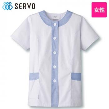 FA-722 724 Servo(サーヴォ) デザイン白衣/半袖(女性用)