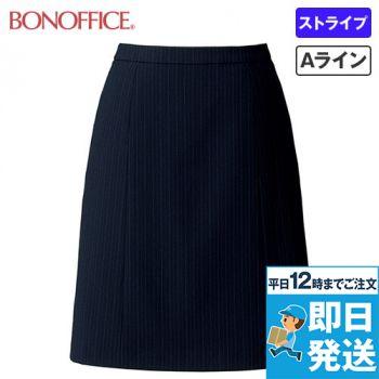 BONMAX AS2290 [通年]リゲル Aラインスカート ストライプ