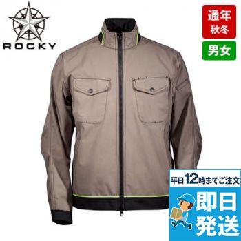 RJ0602 ROCKY メンズバックプリーツブルゾン(男性用)