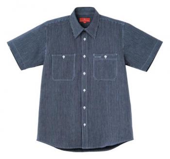 ヒッコリーワーク半袖シャツ