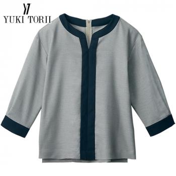 YT1719 ユキトリイ [春夏用]プルオーバー(リボンブローチ付き)