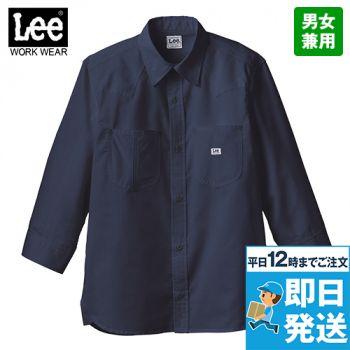 LCS49002 Lee ユニセックス七分袖シャツ